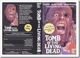 1969 - Tomb Of The Living Dead (VHS)