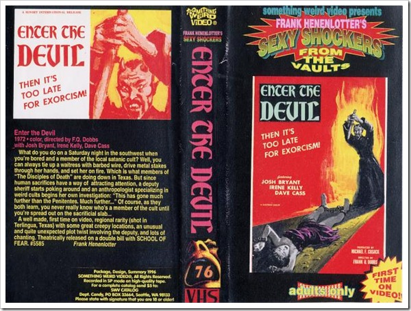 1972 - Enter The Devil (VHS)
