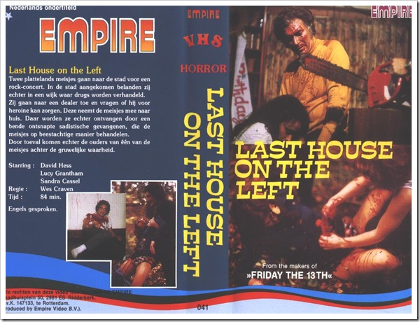 1972 - Last House On The Left, The (A)(VHS)