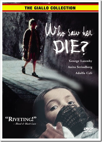 1972 - Who Saw Her Die (DVD)