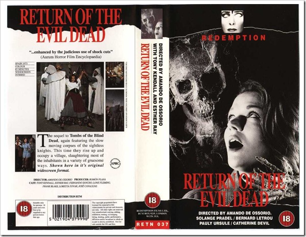 1973 - Return Of The Evil Dead (VHS)