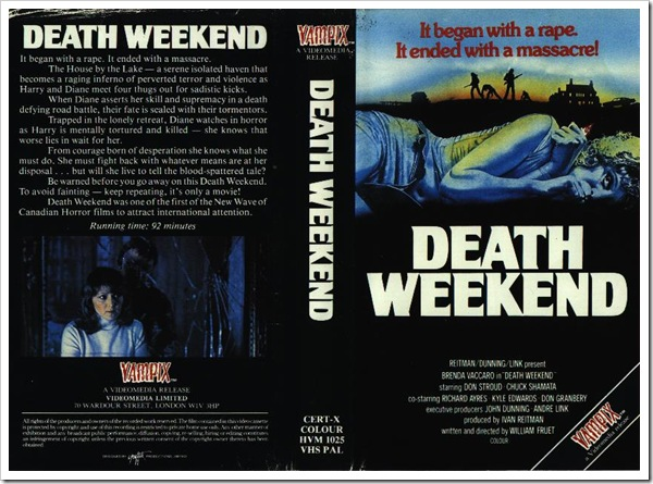 1976 - Death Weekend (VHS)