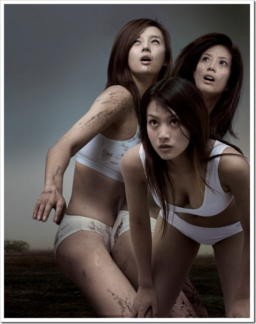 cool-asian-top-models-playing-soccer-in-mud