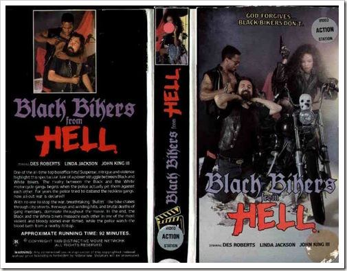 1970 - Black Bikers From Hell (VHS)