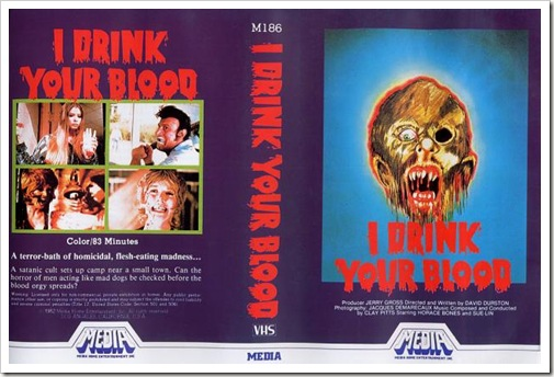 1971 - I Drink Your Blood (VHS)