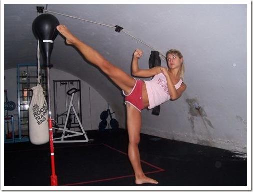 Nude martial arts woman