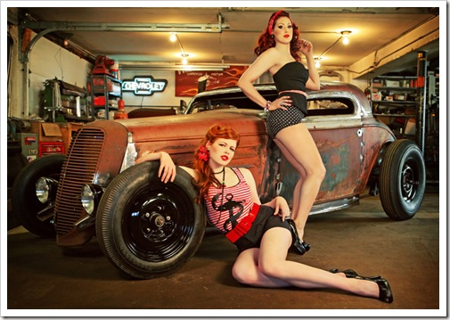 sinister pinups with car