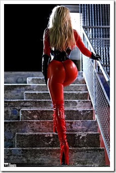 amazing ass in latex