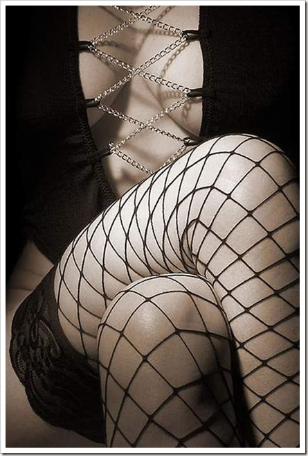 stockings cleavage to die for