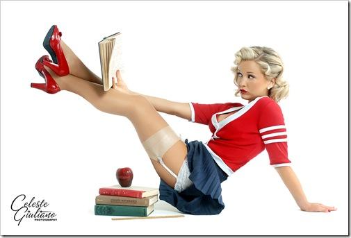 sexy girl enjoying a book