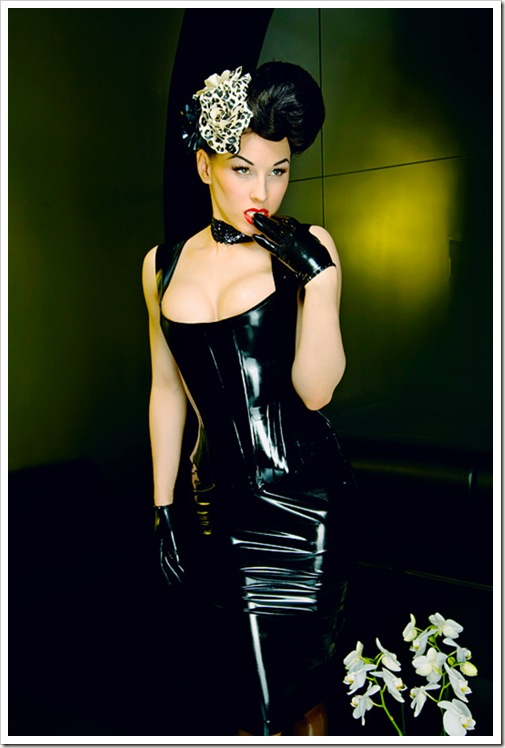 black latex girl