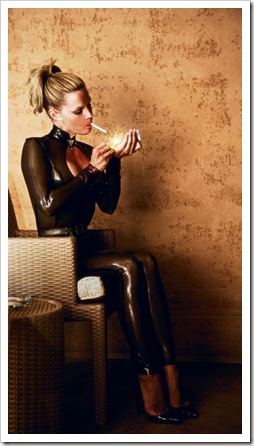 smoking latex beauty