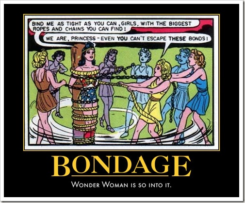 wonderwoman and bondage