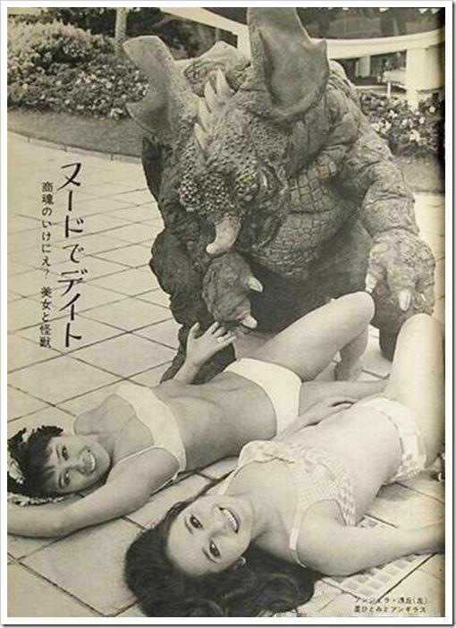 japanese monster and bikini girls