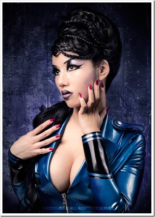 hot japanese latex girl