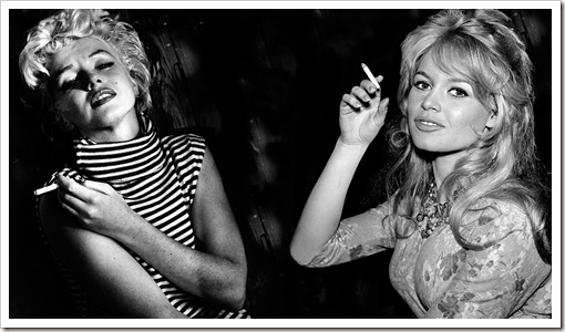 marilyn and bardot smoking