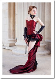 red corset