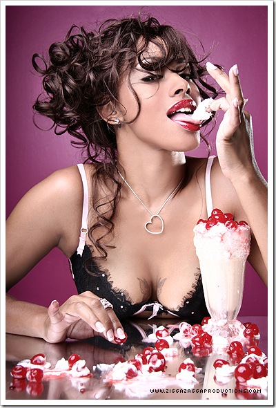 sexy girl enjoying her ice cream