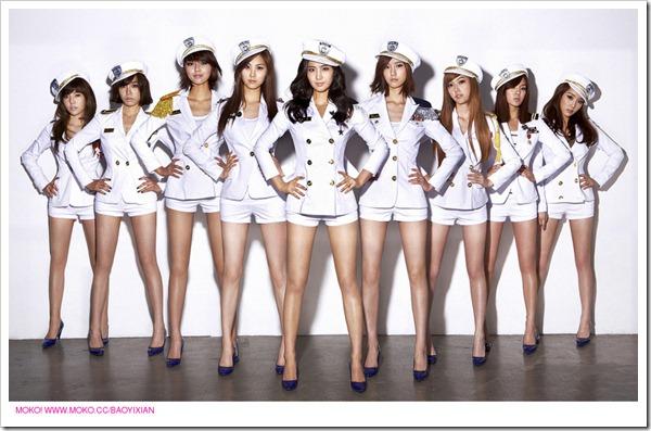 A group of air hostess