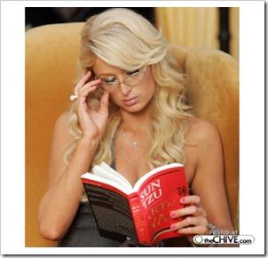 paris hilton reading
