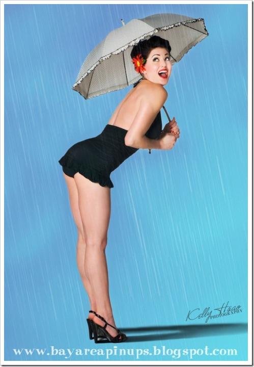 raining pinup