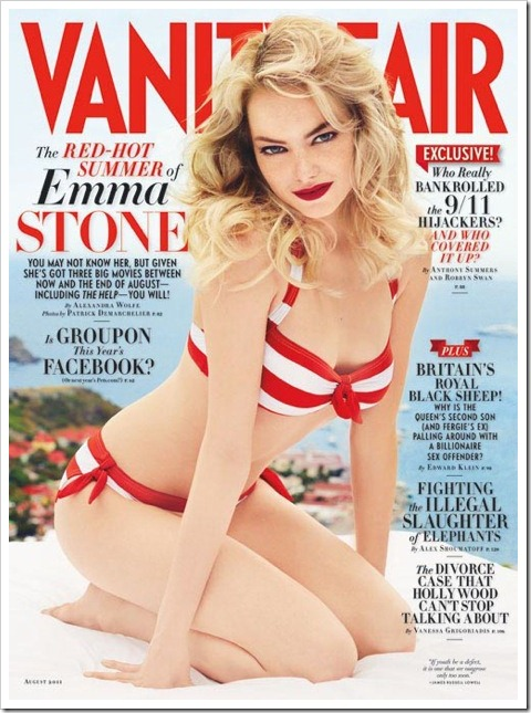 emma stone on vanity fair cover