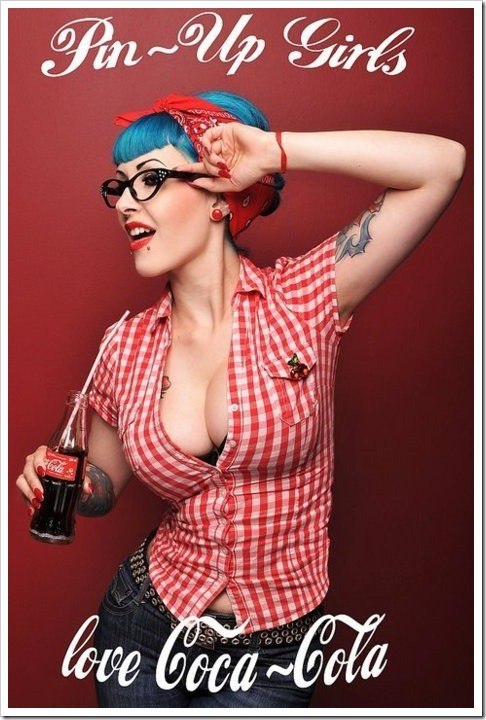 pinup girls loves coke