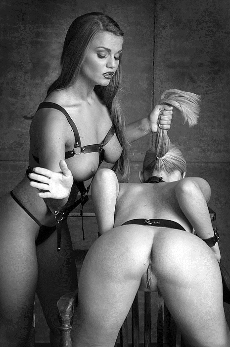 Erotic art black and white bondage