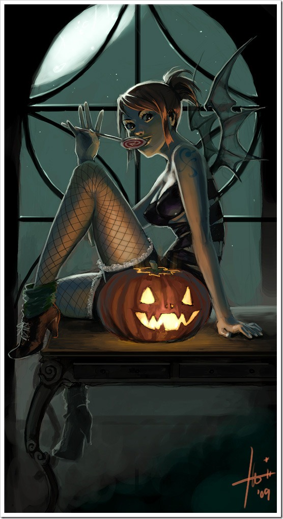 Nami_as_halloween_demon_xD_by_Izaskun