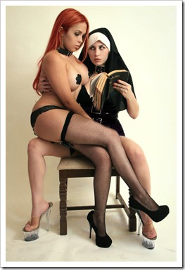 the nun and the redhead