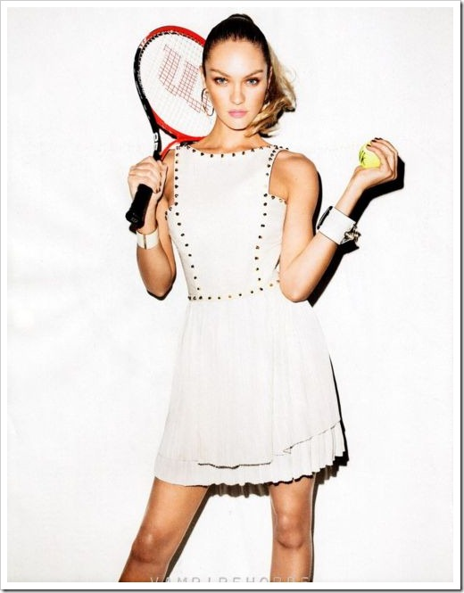 candice swanepoel in tennis gear