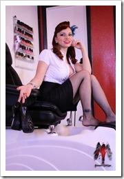 The model is Helen Vasquez