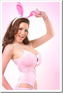 Jordan Carver in sexy pink bunny fashion (4)