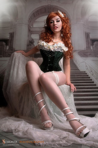 Corset and pearls