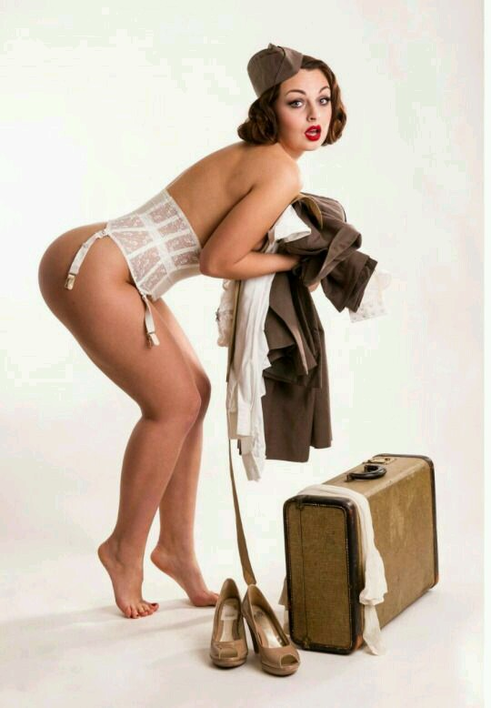Impossible. Nude army pin up